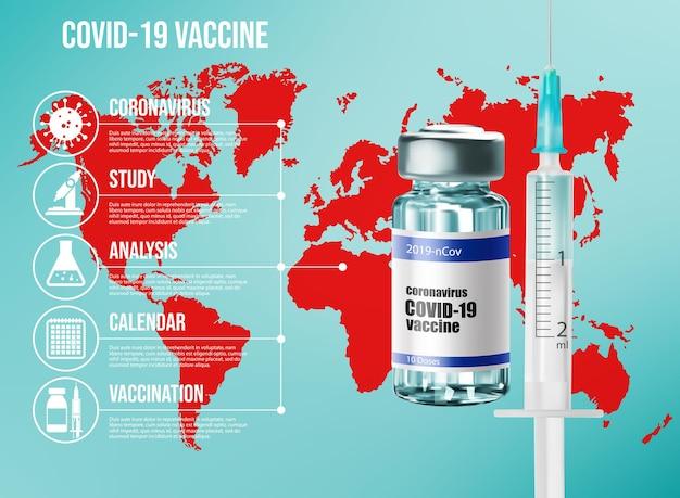Coronavirus vaccinatie infographics, infectie