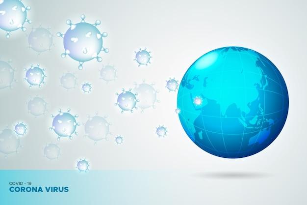 Coronavirus verspreidde zich over de hele wereld