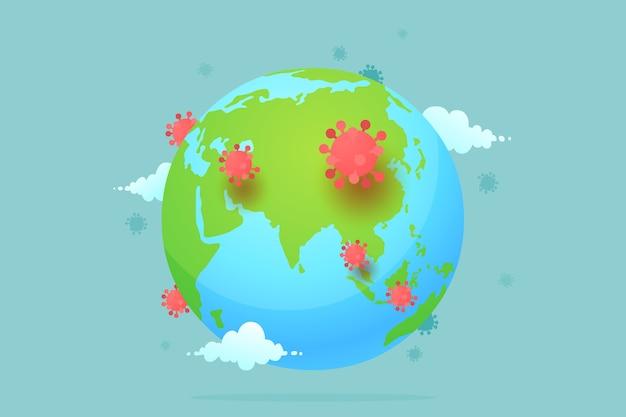 Coronavirus verspreidt zich over de hele wereld