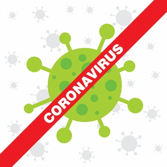 Coronavirus waarschuwingsposter. covid 19-teken.