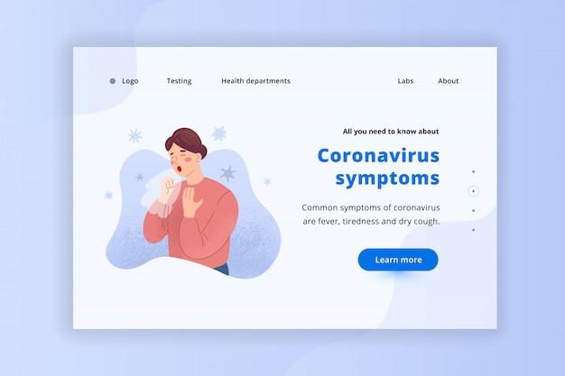 Coronavirus webpagina banner, lay-out