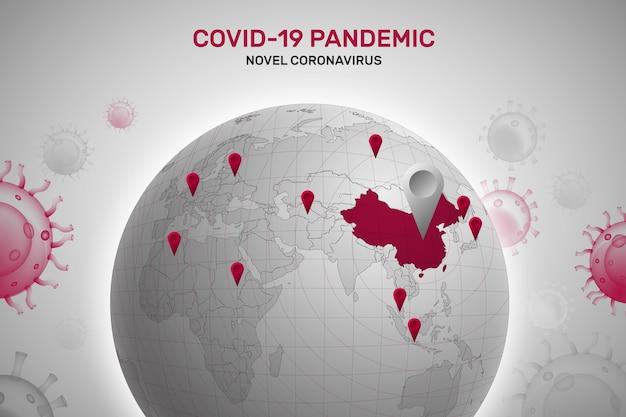Coronavirus wereld concept