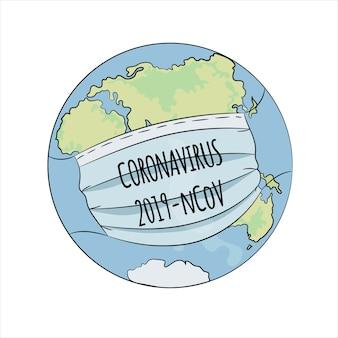 Coronavirus wereld gezondheid aarde menselijke epidemie gevaar