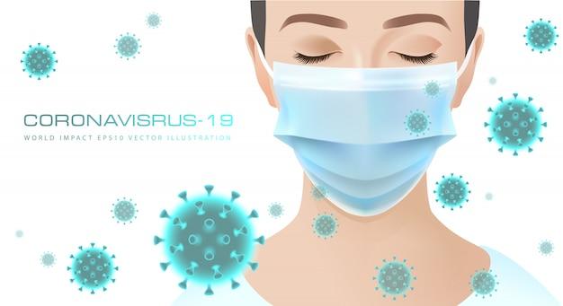 Coronavirus wereld impact illustratie.