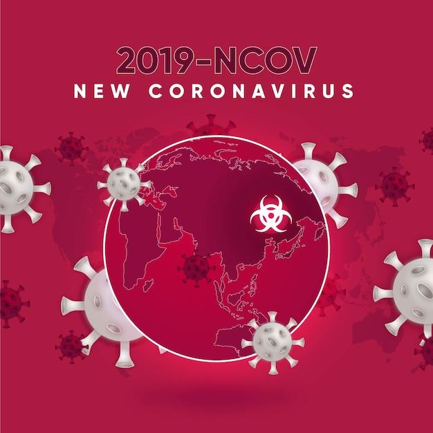 Coronavirus wereldbol ontwerp