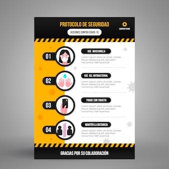 Coronaviruspreventie met infographic ontwerp