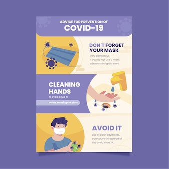 Coronaviruspreventieposter voor winkels