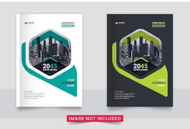 Corporate a4 boekomslag ontwerpsjabloon of jaarverslag set