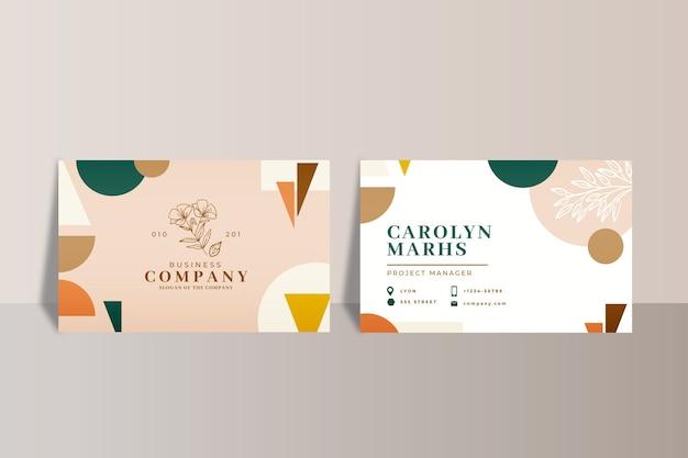 Corporate abstracte visitekaartjes