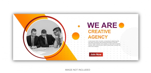 Corporate banner met modern design