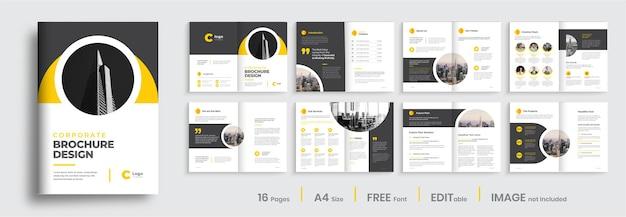 Corporate bedrijfsprofiel brochure ontwerp lay-out professionele brochure sjabloon lay-out