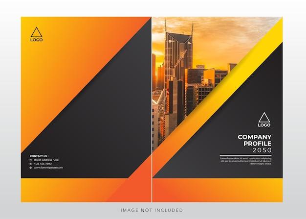 Corporate bedrijfsprofiel ontwerp omslag