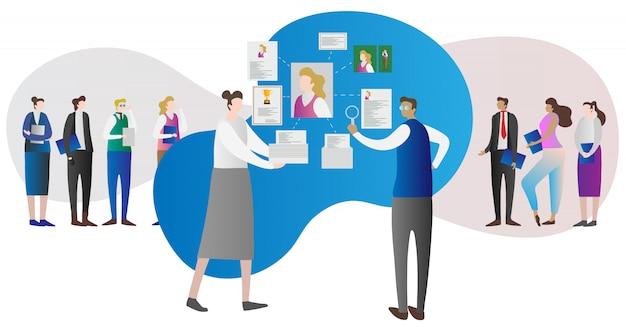 Corporate bedrijfsresource onderzoek concept
