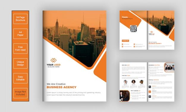 Corporate bi-fold brochure sjabloon