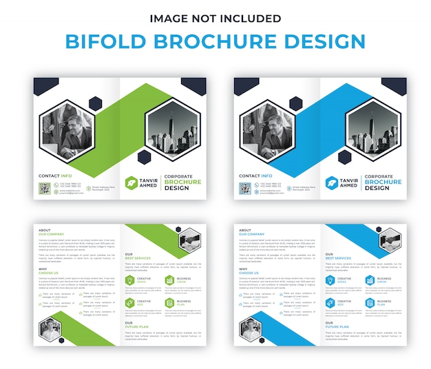 Corporate bifold brochure ontwerpsjabloon