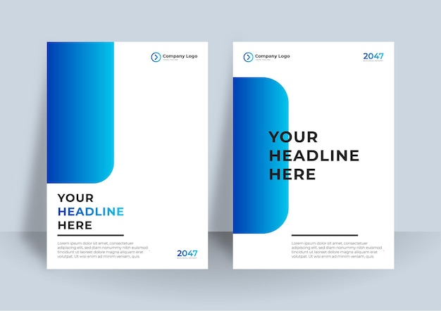 Corporate boekomslag ontwerpsjabloon in a4.