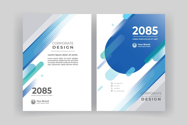 Corporate book cover ontwerpsjabloon.