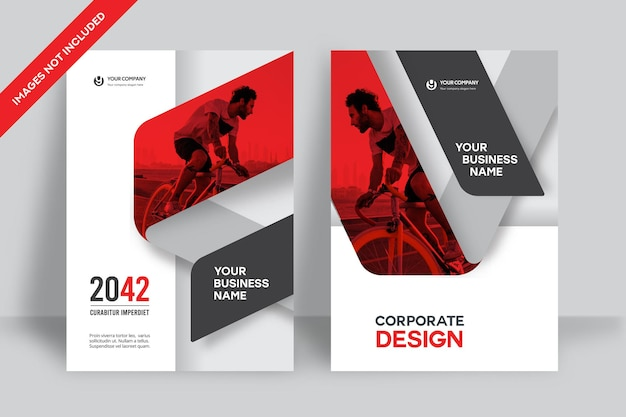 Corporate book cover ontwerpsjabloon