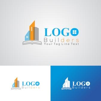 Corporate bouwers en bouwbedrijf logo ontwerpsjabloon