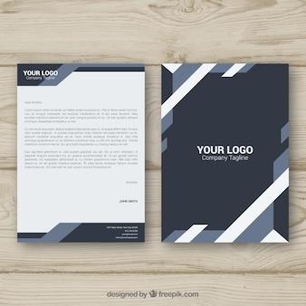 Corporate brochure grijze geometrische vormen