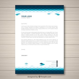 Corporate brochure met blauwe tinten