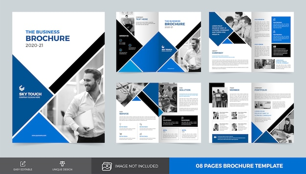 Corporate brochure sjabloon