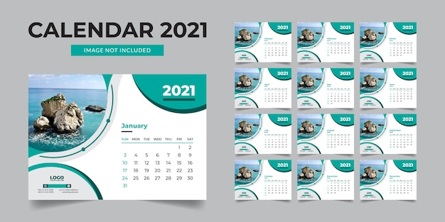 Corporate bureau kalender ontwerpsjabloon