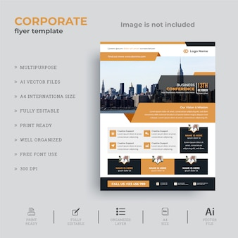 Corporate business conference flyer ontwerp
