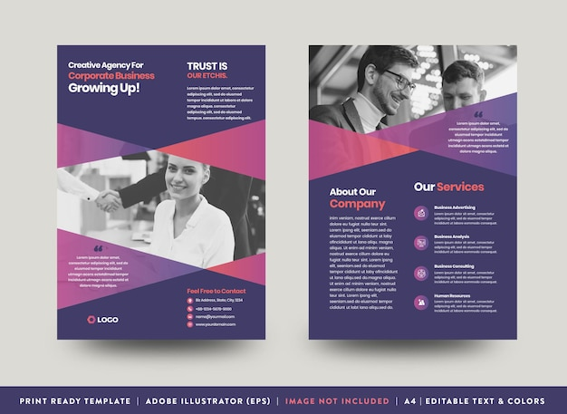 Corporate business flyer design of hand-out