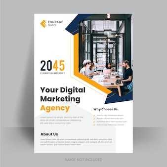 Corporate business flyer poster pamflet brochure cover ontwerp lay-out backgroundvector sjabloon in