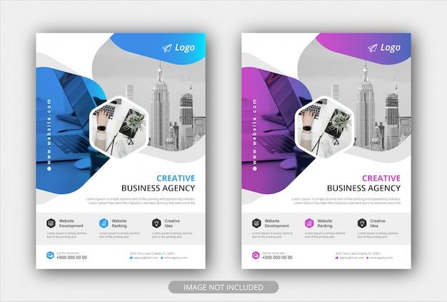 Corporate business flyer-sjabloon met kleurovergang