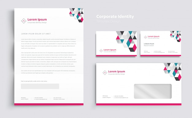 Corporate business identity sjabloonontwerp vector