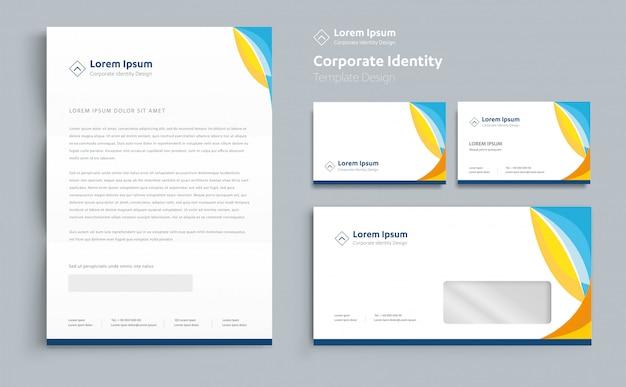 Corporate business identity sjabloonontwerp vector