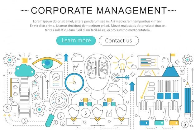 Corporate business management concept