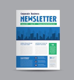 Corporate business nieuwsbrief ontwerp