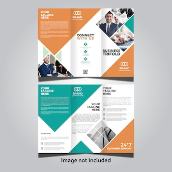 Corporate business trifold-sjabloon