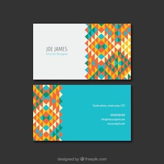 Corporate card met gekleurde vormen