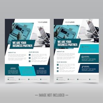 Corporate constructie poster, flyer ontwerpsjabloon
