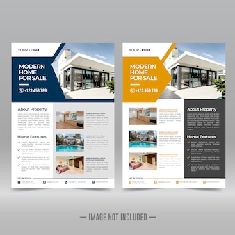 Corporate flyer ontwerpsjabloon