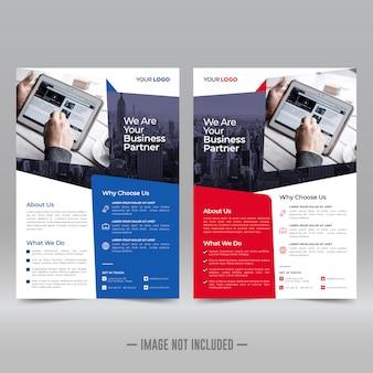 Corporate flyer ontwerpsjabloon