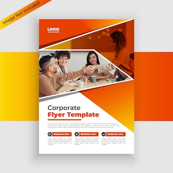 Corporate flyer-sjabloon