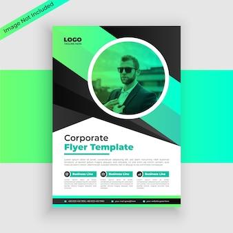 Corporate flyer sjabloonontwerp