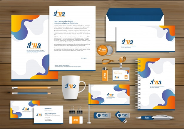 Corporate identity business sjabloonontwerp vector abstract