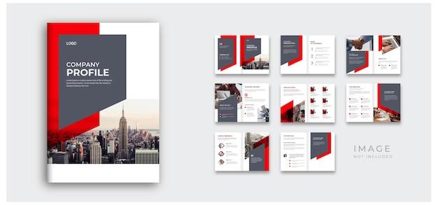 Corporate modern bedrijfsprofiel en ontwerplay-out voor projectvoorstel