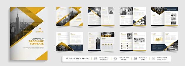Corporate modern tweevoudig zakelijk voorstel zakelijke brochure jaarverslag sjabloonontwerp