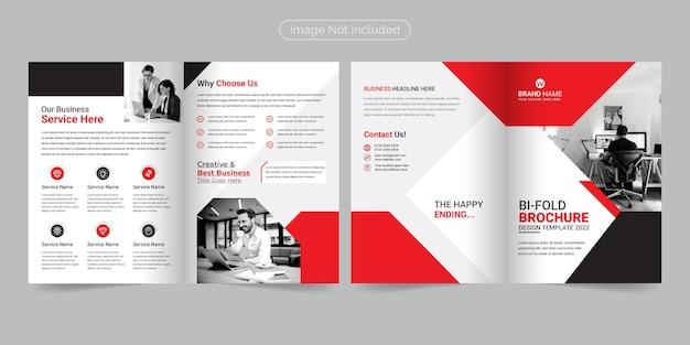 Corporate moderne en professionele tweevoudige brochure sjabloon