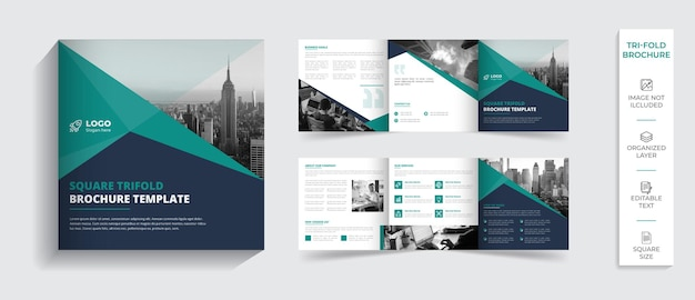 Corporate moderne professionele tweevoudige brochure bedrijfsprofiel ontwerp