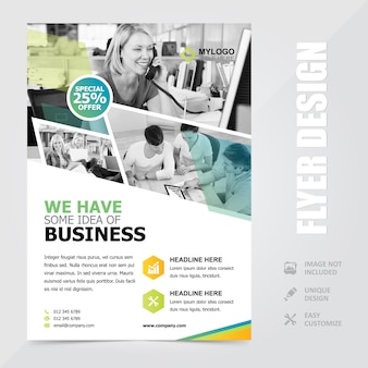 Corporate multipurpose a4 flyer brochure achtergrond sjabloon