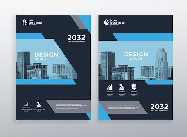 Corporate omslagboek ontwerpsjabloon met a4-formaat