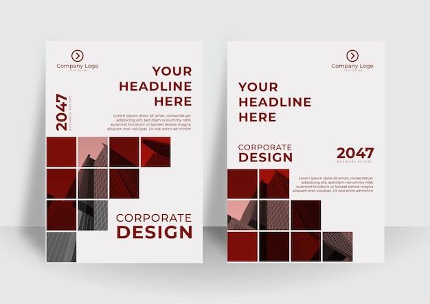 Corporate omslagontwerp of folder sjabloon achtergrond voor zakelijk ontwerp. moderne bedrijfsprofielsjabloon in a4-formaat Premium Vector